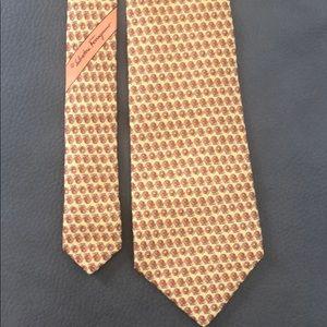 Salvatore ferragamo silk tie.